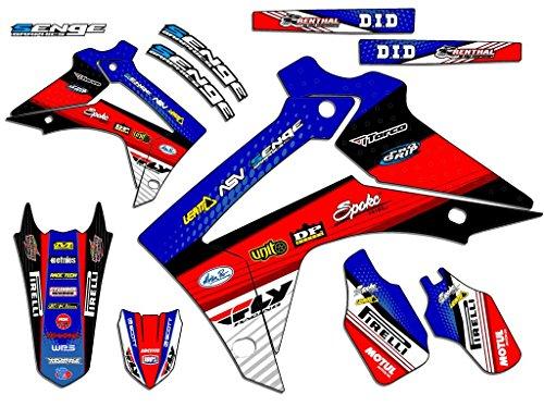 Senge Graphics 2013-2017 Honda CRF 125 Riccochet Blue Graphics kit