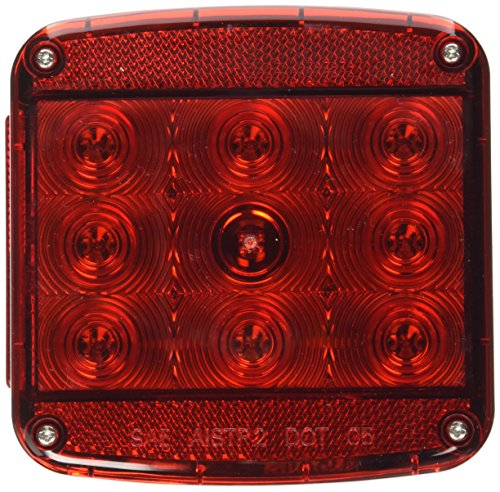Peterson Manufacturing Piranha Square LED StopTurnTail Trailer Light - 476in With License Light Model V840L