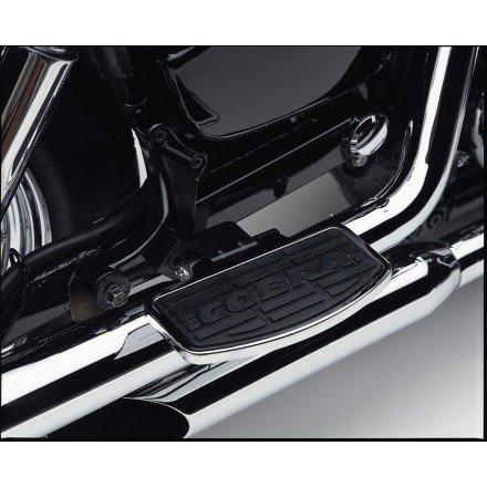 02-04 HONDA VTX1800C Cobra Passenger Floorboards - Swept Chrome CHROME