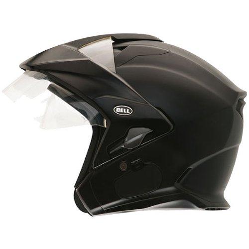 Bell Solid Sena Mag-9 Harley Cruiser Motorcycle Helmet - Matte Black  X-Large