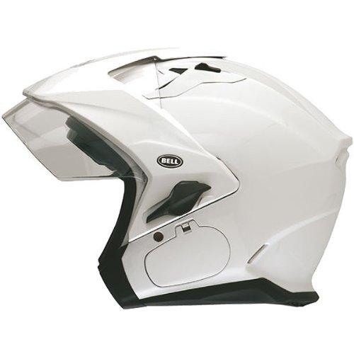 Bell Solid Sena Mag-9 Harley Cruiser Motorcycle Helmet - Pearl White  Medium