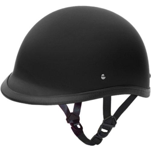 Daytona Hawk DOT Approved Cruiser Harley Motorcycle Helmet - Dull Black - Large