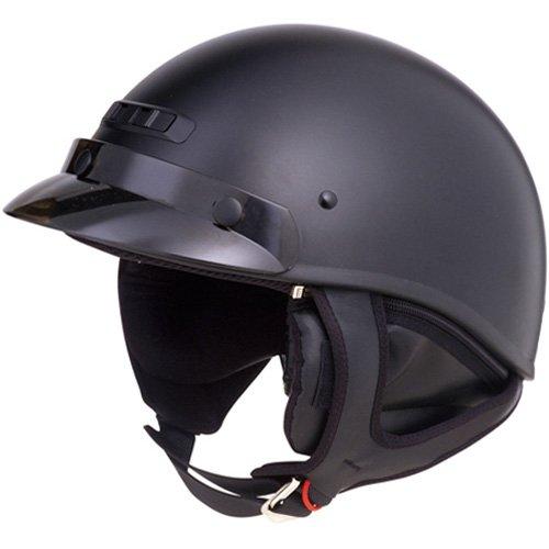 GMAX GM35 Fully Dressed Adult Harley Cruiser Motorcycle Helmet - Flat Black  Medium