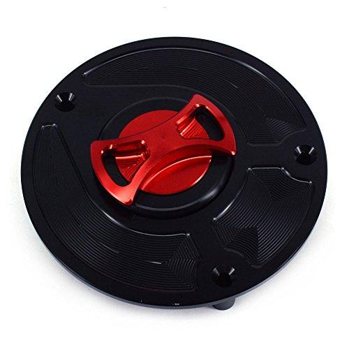 JFG RACING Black CNC Aluminum Billet Motorcycle Keyless Twist off Gas Fuel Tank Cap Cover For Honda CBR600RR CBR900RR CBR929RR CBR954RR CB600F CB900F CBR250RR CBR400RR CBR1000RR
