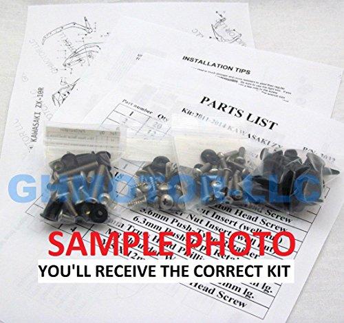 GHMotor Standard Fairing Bolts Fasteners Screws Kit Set MADE IN USA for 2006 07 2008 KAWASAKI 650R Silver