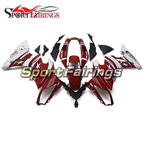 Sportfairings Plastic ABS Fairing kits For Kawasaki Ninja 650R ER-6F Year 2009 2010 2011 Full Covers Red Black Star Motorbike Cowling