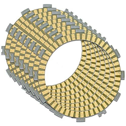 Caltric CLUTCH FRICTION PLATE Fits KAWASAKI ZX6R ZX-6R NINJA ZX636 2005 2006 2013 8 PLATES