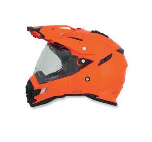 AFX FX-41DS Solid Helmet  Gender MensUnisex Helmet Type Offroad Helmets Helmet Category Offroad Distinct Name Safety Orange Primary Color Orange Size Md 0110-3768