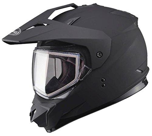 G-Max XF-3-72-71232X GM11S Snow Sport Helmet with Electric Shield Gender MensUnisex Size 2XL Primary Color Black Distinct Name Matte Black Helmet Type Dual Sport Helmets Helmet Category S