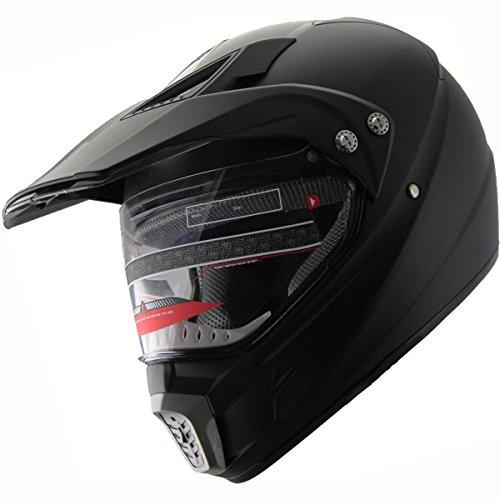 Motocross Dual Sport Off Road Dirt Bike ATV Motorcycle Helmet 406 Matte Black M
