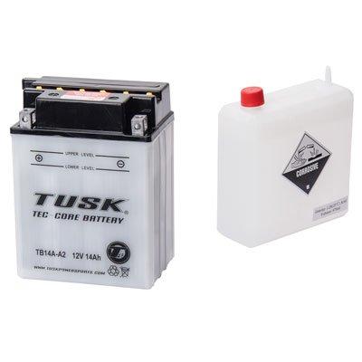 Tusk Tec-Core Battery with Acid TB14AA2 -Fits Kawasaki MULE 600 2x4 2011-2015