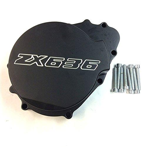 SMT MOTO- Black Motorcycle Billet Motor Engine Stator Cover For Kawasaki Zx6R 636 2003 - 2004 Black Left Side