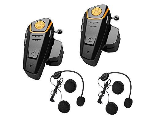 Bluetooth Motorcycle Headset Helmet Intercom Communication Headphone Universal Wireless Interphone To 2 or 3 RidersDual