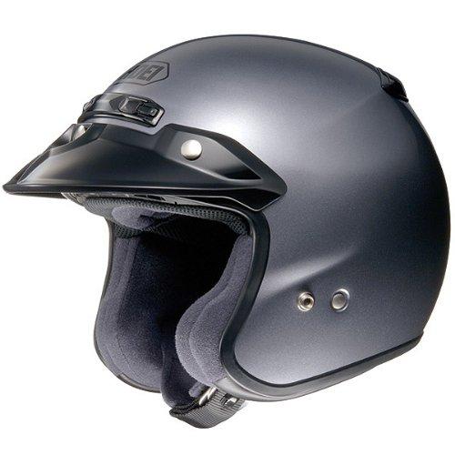 Shoei Metallic RJ-Platinum R Cruiser Motorcycle Helmet - Pearl Grey  Medium