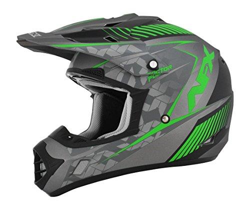 AFX FX-17 Factor Mens Motocross Helmets - GrayGreen - Small