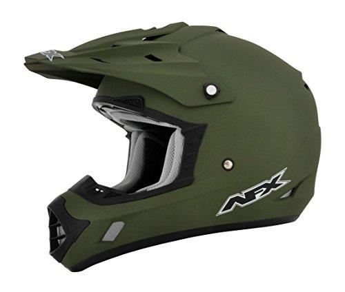 AFX FX-17 Flat Olive Drab Mens Motocross Helmets - X-Large