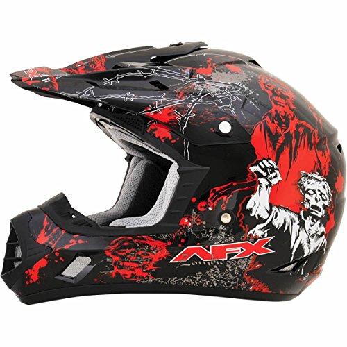 AFX FX-17 Zombie Mens Motocross Helmets - BlackRed - Large
