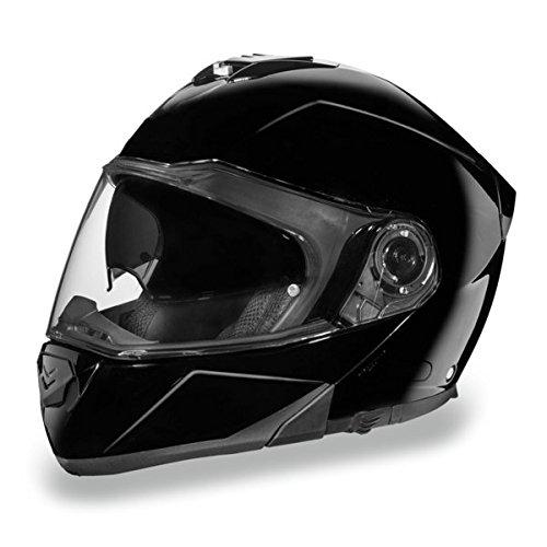 Gloss Black Bluetooth Modular Motorcycle Helmet Size XS X-Small