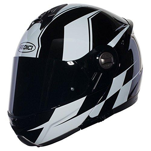 SEDICI Sistema Finitura Modular Motorcycle Helmet - SM BlackWhite