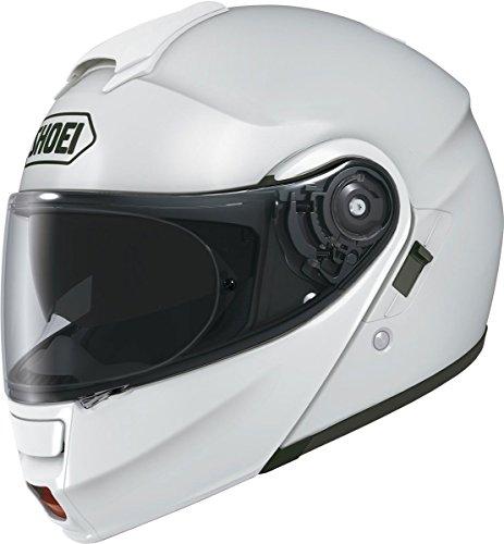 Shoei Solid Neotec Modular Motorcycle Helmet - White  Large