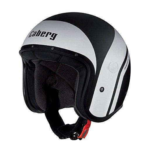 Caberg Freeride Vintage JET Scooter Motorcycle Helmet Mistral Black White XS