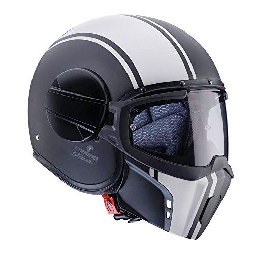 Caberg Ghost Legend Matt BlackWhite Motorcycle Helmet