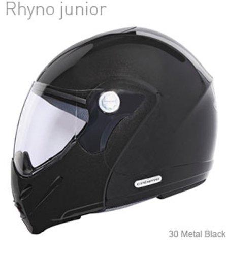 Caberg Rhyno Junior Metal Black Motorcycle Scooter Helmet