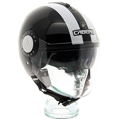 Caberg Riviera V2 Legend Open Face Scooter Motorcycle Helmet - BlackWhite L