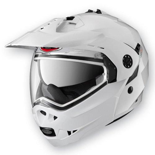 Caberg Tourmax Metal White Motorcycle Helmet