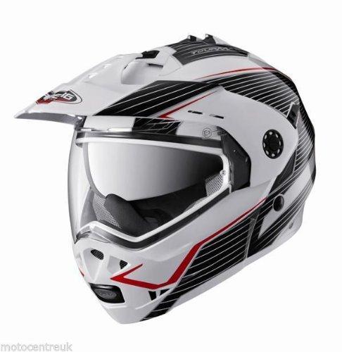 Caberg Tourmax Sonic White Black Red Motorcycle Helmet