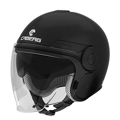Caberg Uptown Classic Open Face Jet Scooter Motorcycle Helmet Matt Black XL