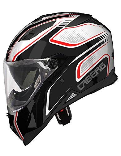 New Caberg Stunt Blade WhiteBlkRed Motorcycle Helmet