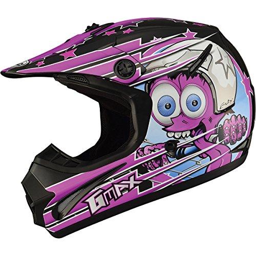 GMAX GM462 Superstar Youth Boys Motocross Motorcycle Helmet - BlackPurple  Small