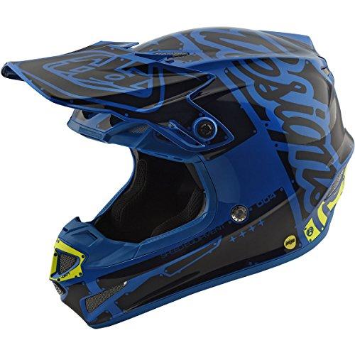 Troy Lee Designs Factory Boys SE4 Motocross Motorcycle Helmet - Blue  Large
