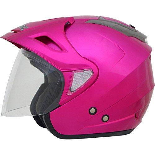 AFX FX-50 Solid Helmet Distinct Name Fuchsia Gender Womens Helmet Category Street Helmet Type Open-face Helmets Primary Color Pink Size Lg 0104-1568