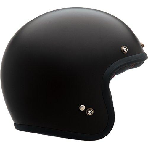 Bell Custom 500 Unisex-Adult Open face Street Helmet Solid Matte Black Medium DOT-Certified