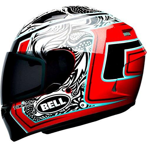 Bell Tagger Splice Adult Qualifier Street Helmet - WhiteBlackRed  Large
