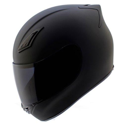 Duke Helmets DK-120 Full Face Motorcycle Helmet Large Matte Black
