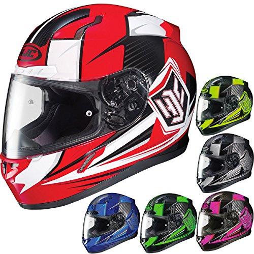 HJC CL-17 Striker Full-Face Motorcycle Helmet BlackHi Viz Medium
