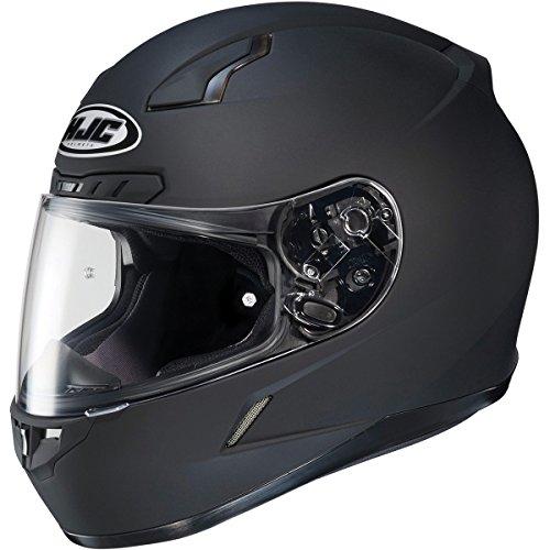 HJC Solid Mens CL-17 Full Face Motorcycle Helmet - Matte Black  Large