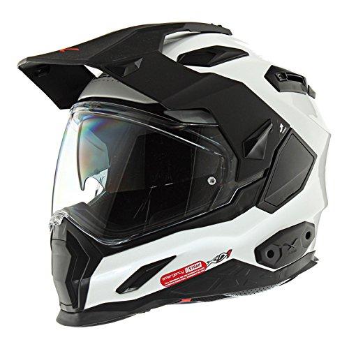 NEXX XD1 Plain White Full Face Motorcycle Helmet Large