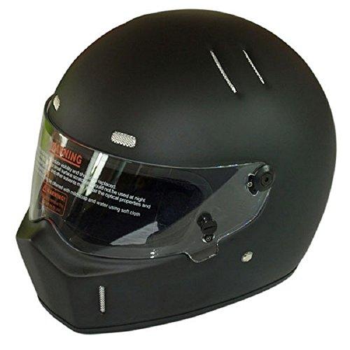 CRG Sports ATV Motocross Motorcycle Scooter Full-Face Fiberglass Helmet DOT Certified ATV-1 Matte Black Size Large