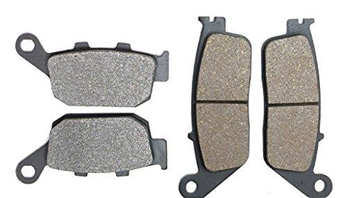 CNBK Motorcycle Resin Brake Pads Set for HONDA Street Bike CBR250 CBR250R CBR 250 cc 250cc R 11 12 13 14 15 2011 2012 2013 2014 2015 4 Pads