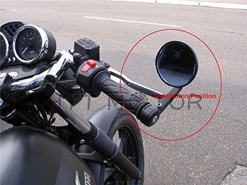CNC BLACK 3 BAR END MIRRORS 1 HANDLEBAR FOR HARLEY TRIUMPH VICTORY MOTORCYCLE