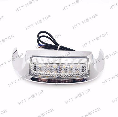 SMT MOTO- New Front LED Fender Tip Light Clear Lens for Harley FLHX FLHR 14 15 16 17