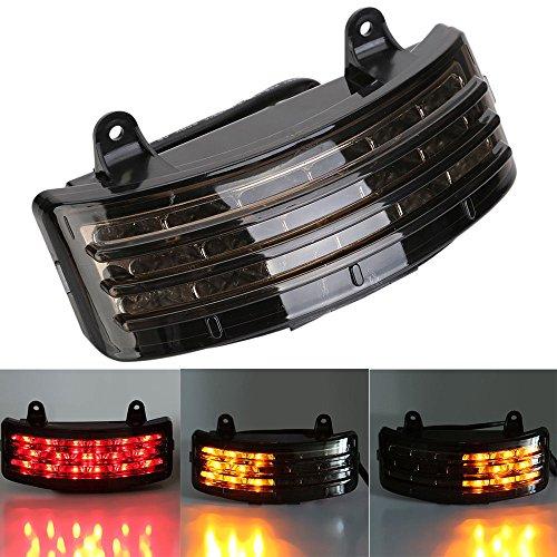 Tri-Bar Fender LED Integrated Tail Light W Signal For Harley FLHX FLTRX Touring