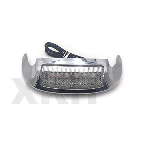 XKH Group New Front LED Fender Tip Light Clear Lens for Harley FLHX FLHR 14 15 16 17