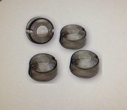 Smoke Turn Signal Lens Set 4 Harley Dyna Super Glide - FXD 95-2001 repl OEM 68457-86