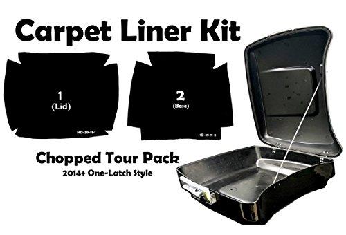 Black Carpet Liner Kit for 2014 One Latch Style Harley-Davidson Chopped Tour Pak Pack