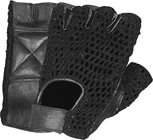 First Manufacturing Lightweight Mesh Fingerless Gloves (large, Black Mesh)